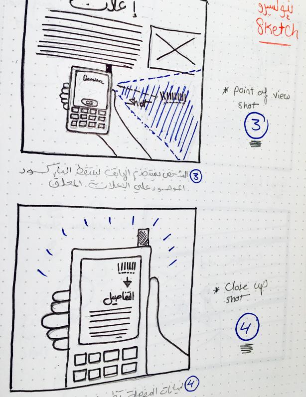 احد الاستكشات التي نفذها فريق نيوكسيرو لسيناريو استخدام تطبيق موبايل